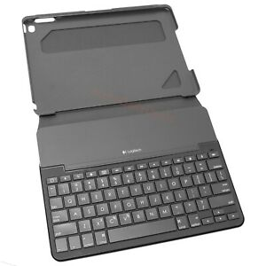 Logitech iPAD AIR 2 Keyboard Folio Case Canvas Wireless Bluetooth Black