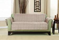 Sure Fit Deluxe Loveseat Furniture Cover Non-SlipPaws & Pockets Tan Color