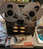 TEAC 3340S FOUR TRACK REEL TO REEL STEREO RECORDER TAPE DECK REMOTE MANUAL BOX