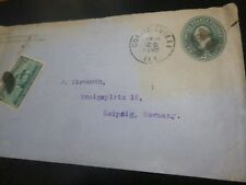 * USA Ganzsache, United States Postage, Washington blue-green 2 two cents 1895 *