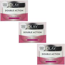 3 Olay Double Action Moisturiser Day Cream & Primer Normal Dry Skin Classic 50ml
