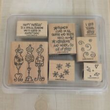 Stampin' Up! 2003 I Like Your Style Wood Mount Rubber Stamp Set of 7 Dress Form