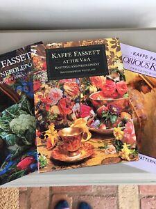 kaffe fassett 3 Books Tapestry Knitting Needlework