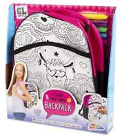 Colour Your Own Llama Backpack School Rucksack Bag & Pens Kit Childrens 16-8059