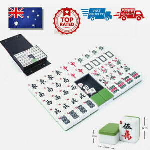 Heavy Duty 144Tiles Traditional Mah-Jong Set Portable Chinese Mahjong Rare Game
