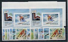 Liberia 1168/73 Block 95 je A + B + Sonderblöcke postfrisch / Olympiade 1/1907