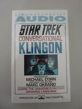 Simon & Schuster Star Trek Conversational Klingon Audio Tape New