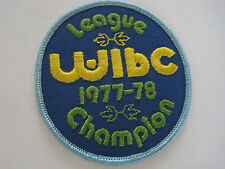 Bowling Patch WIBC League Champion 1977-78 3 inches