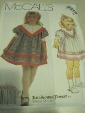 UNCUT MCCALLS Enchanted Forest GIRLS' DRESS # 2216 Sewing Pattern Sz 3 1985