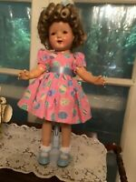 """Vintage Composition Shirley Temple Look Alike Doll 21"""""""