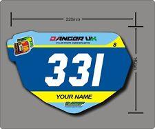 BMX anti-Shatter Mini Race PIASTRA (5) numero gratuito TAVOLE