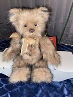 Charlie Bear Shrimpy jointed plush teddy bear NWT Beautiful Rare Retired