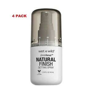 4 PACK wet n wild Photo Focus Natural Finish Setting Spray Seal the Deal