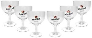 Berliner Kindl Weisse Pokal Glas Gläser-Set - 6x Pokalgläser