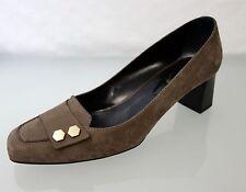 Edle TOD'S TODS Designer Wildleder Pumps Gr.37,5 Schuhe Shoes  Braun 3949