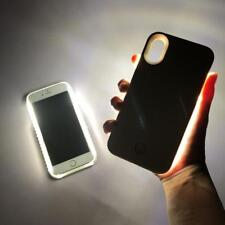 Handy Hülle LED Blitz für Apple iPhone Case Schale Tasche Cover Selfie Hardcover