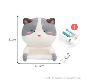 Kawaii Neko Toilet Paper Roll Holder Anime Towel Rack Cute Cat Kids Bathroom