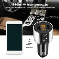 Wireless Bluetooth Car FM Transmitter MP3 Player 2 USB Charger Handsfree Tools