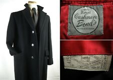 Vintage Bond's Cashmere Winter Top Coat Overcoat Black Fits 38-40
