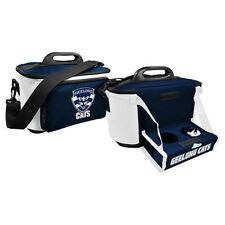 Geelong Cats AFL Lunch Cooler Bag With Drink Tray Table Insulated Work Picnic