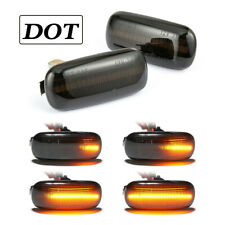 Dynamic Smoked LED Side Marker Signal Lights For Audi A4 S4 B6 B7 A6 A8 C5 TT