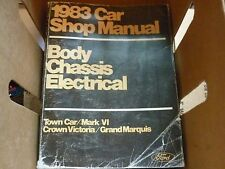 1983 Ford Crown Victoria Mercury Lincoln Oe Shop Manual