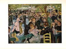 """1960 Vintage RENOIR """"MOULIN DE LA GALETTE"""" LOVELY COLOR offset Lithograph"""