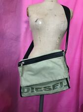 Green Black Faded Fabric Diesel Messenger Bag 15 X 12 Inches Cross Body