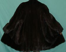 NEIMAN MARCUS Natural Ranch Mink Fur Jacket Coat Size 12-14 FREE SHIPPING