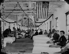 "Wounded Federal Soldiers in Carver Hospital 8""x 10"" Civil War Photo Picture #96"