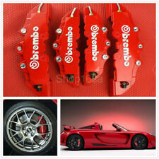 4pcs Front & Rear Universal Red 3D Brembo Style Car Disc Brake Caliper Covers (Fits: Peugeot)