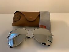 Ray ban aviator sunglasses 3026,  62 mm large, Silver Frame/ Mirrored Lens.