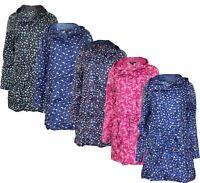 Womens Raincoat Ladies Shower Rain Kagool Parka Hooded Jacket Coat