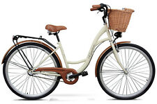 Goetze 28 Zoll ECO Damenfahrrad Citybike Retro Damenrad Cream