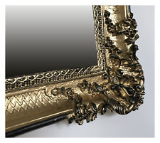 XXL MIROIR MURAL BAROQUE rectangulaire Or Noir Antique 96x57