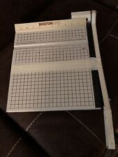 Boston 2612 Paper Cutter 12 Trimmer Heavy Duty Guillotine Usa Withinstructions