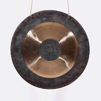 Gong mit Hammer Chinesisch Kupfer Musikinstrument Handschmieden 40cm