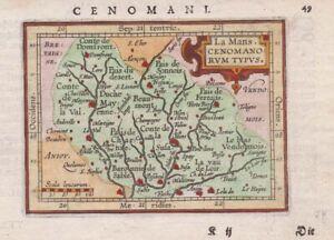 1604 Scarce Ortelius/Hulsius Map of Le Mans, France