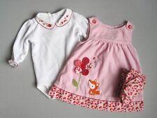 Gymboree ADORABLE FOX Girls 6 9 12 Mo Floral Shirt & Pink Corduroy Dress Set