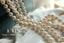 Freshwater Baroque Pearl Necklace Long Chain Class Retro Wedding Gift 120cm TZ1