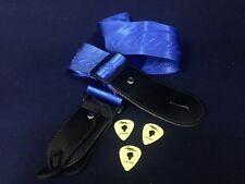 Brand New Kapok Guitar Strap,Nylon,Blue+3 Picks,Length Adjustable 64cm~122cm