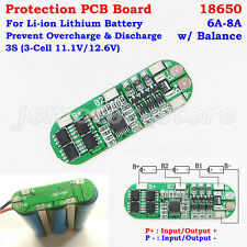 3S 11.1V 12.6V w/Balance Li-ion 18650 Lithium Battery Packs PCB Protection Board