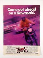 1972 Kawasaki Mach 2 350cc Motorcycle Vintage Print Ad