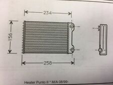 Fiat Punto Mk2 Heater Matrix (Valeo Unit)