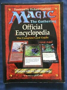 1996 Magic The Gathering Official Encycolpedia Card Guide 1st Edition