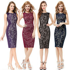 Lace Elegant Sleeveless Short Cocktail Club Dresses Bodycon Ever-pretty 05336