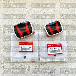 2pcs set Honda Fit GD 06 - 08 JDM Red H Front Rear Type R grille emblem logo