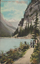 Lake Trail Lake Louise Chalet Canadian Rockies Stamped 1924   # D19