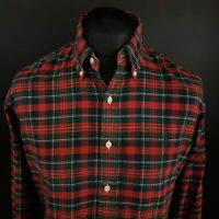Ralph Lauren Mens Vintage Oxford Shirt MEDIUM Long Sleeve Red Custom Fit THICK