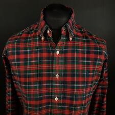 Ralph Lauren Mens Vintage Oxford Shirt MEDIUM Long Sleeve Red Custom Fit THICK
